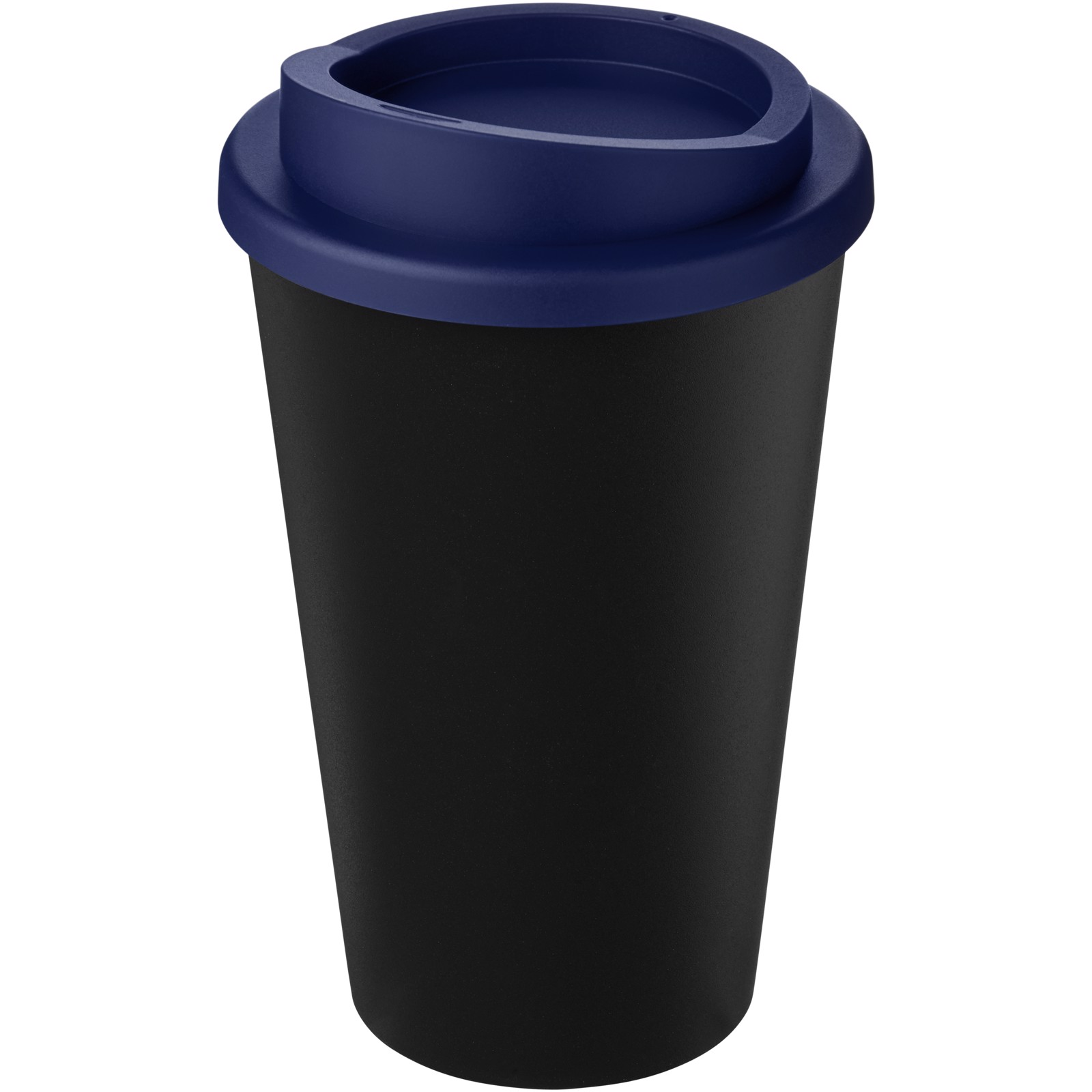 Americano Eco 350 ml recycled tumbler - Solid black / Blue