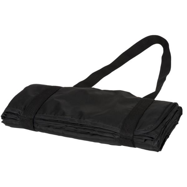 Pikniková deka Roler s popruhy pro přenášení - Černá