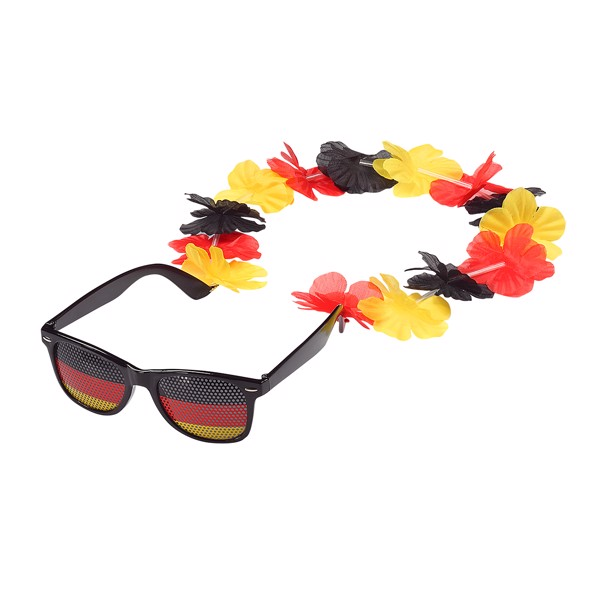 "Fun Glasses ""Germany"" With Flower Chain"
