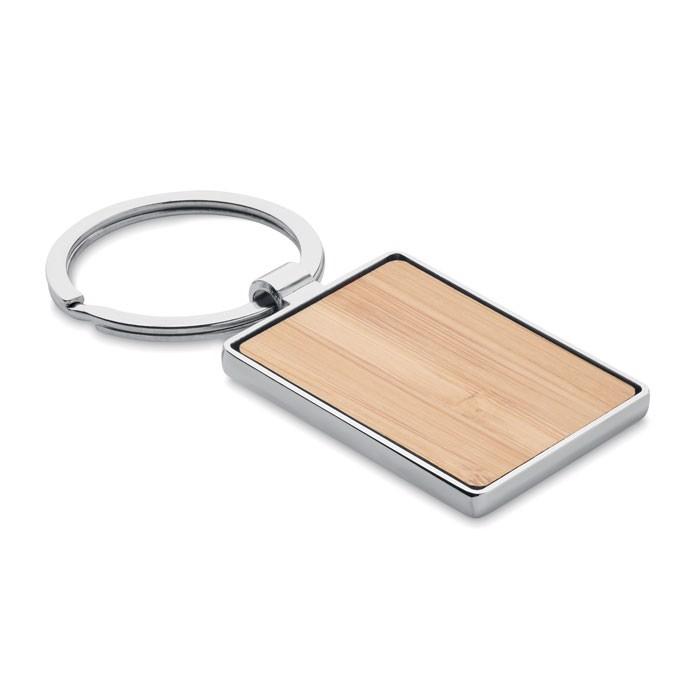 Pravokotni obesek za ključe iz bambusa Bendigo