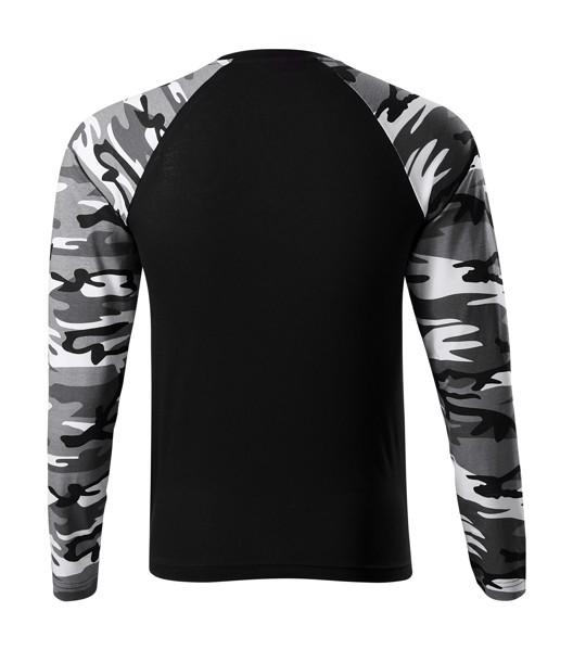 Triko unisex Malfini Camouflage LS - Camouflage Gray / XS