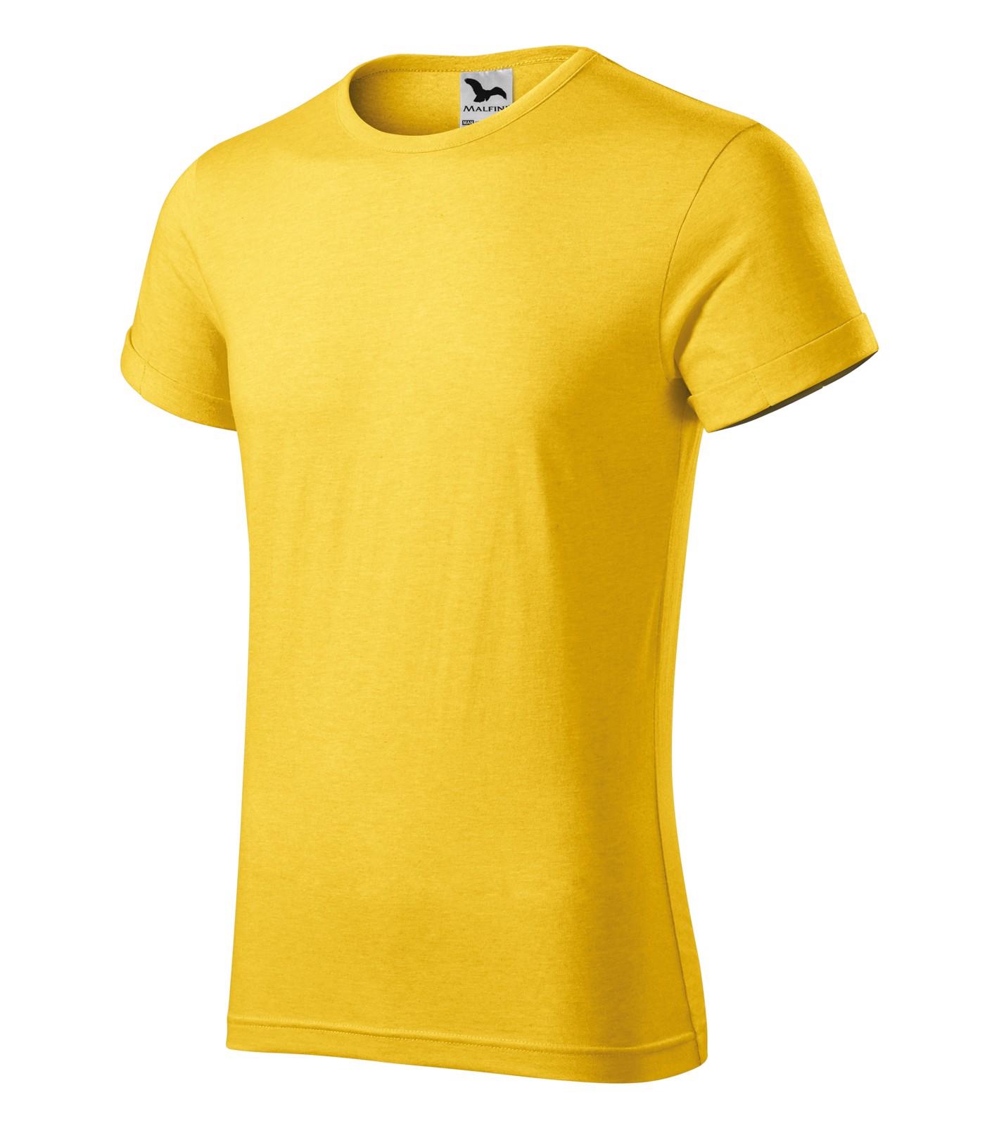 Tričko pánské Malfini Fusion - Žlutý Melír / L