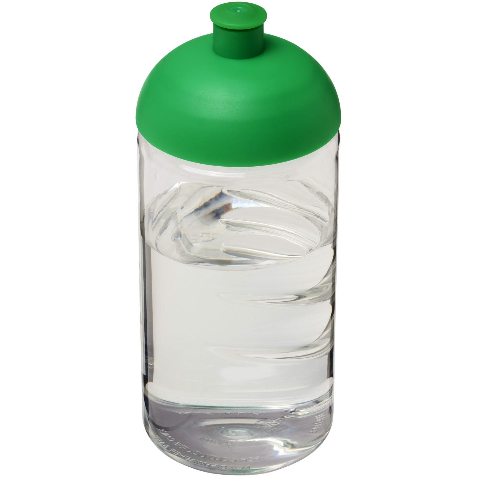 Láhev s kupolovitým víčkem H2O Bop® 500 ml - Průhledná / Zelená