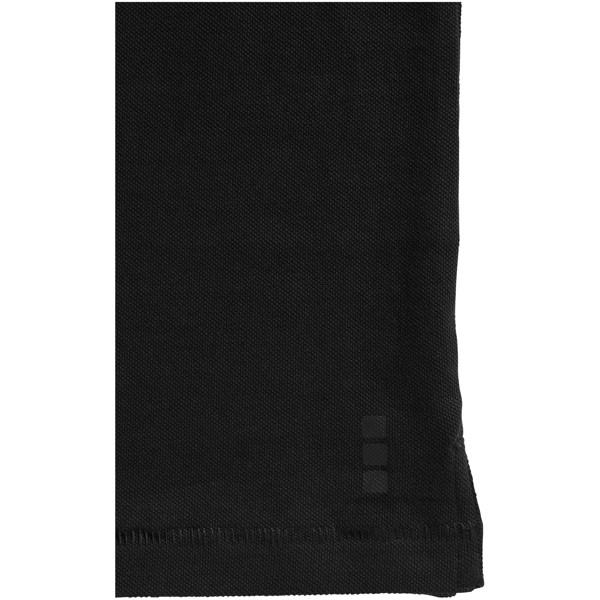 Oakville long sleeve women's polo - Solid Black / M