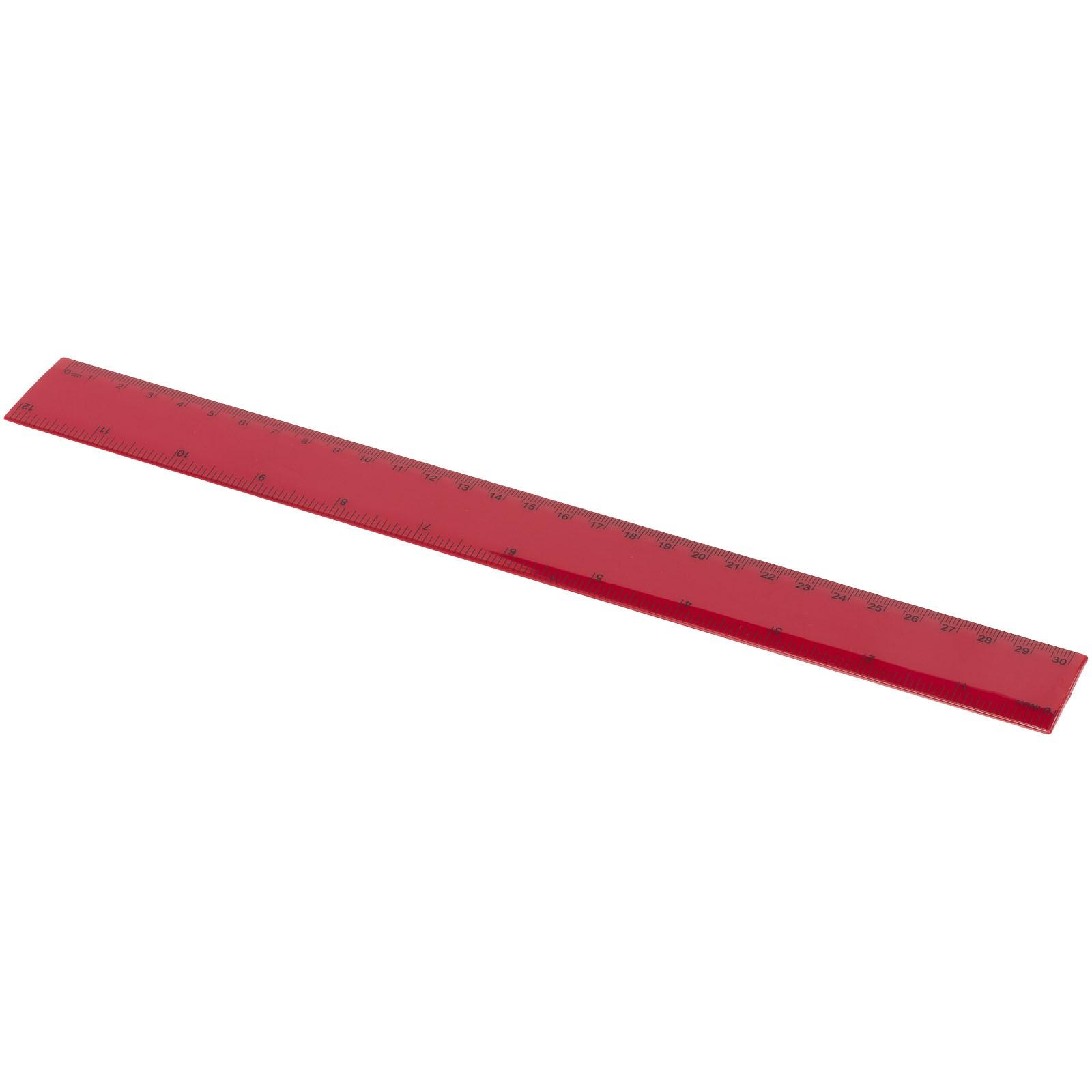 Pravítko Ruly 30 cm - Červená s efektem námrazy