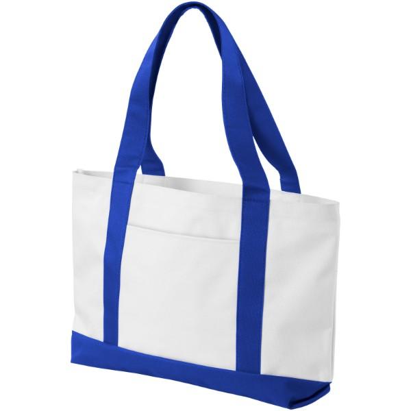 Madison tote bag - White / Royal blue