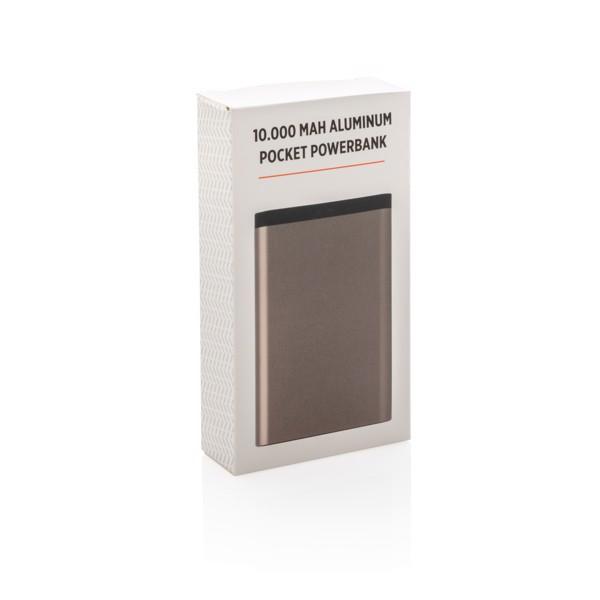 10 000 mAh alumínium zsebben hordható powerbank - Kőszén