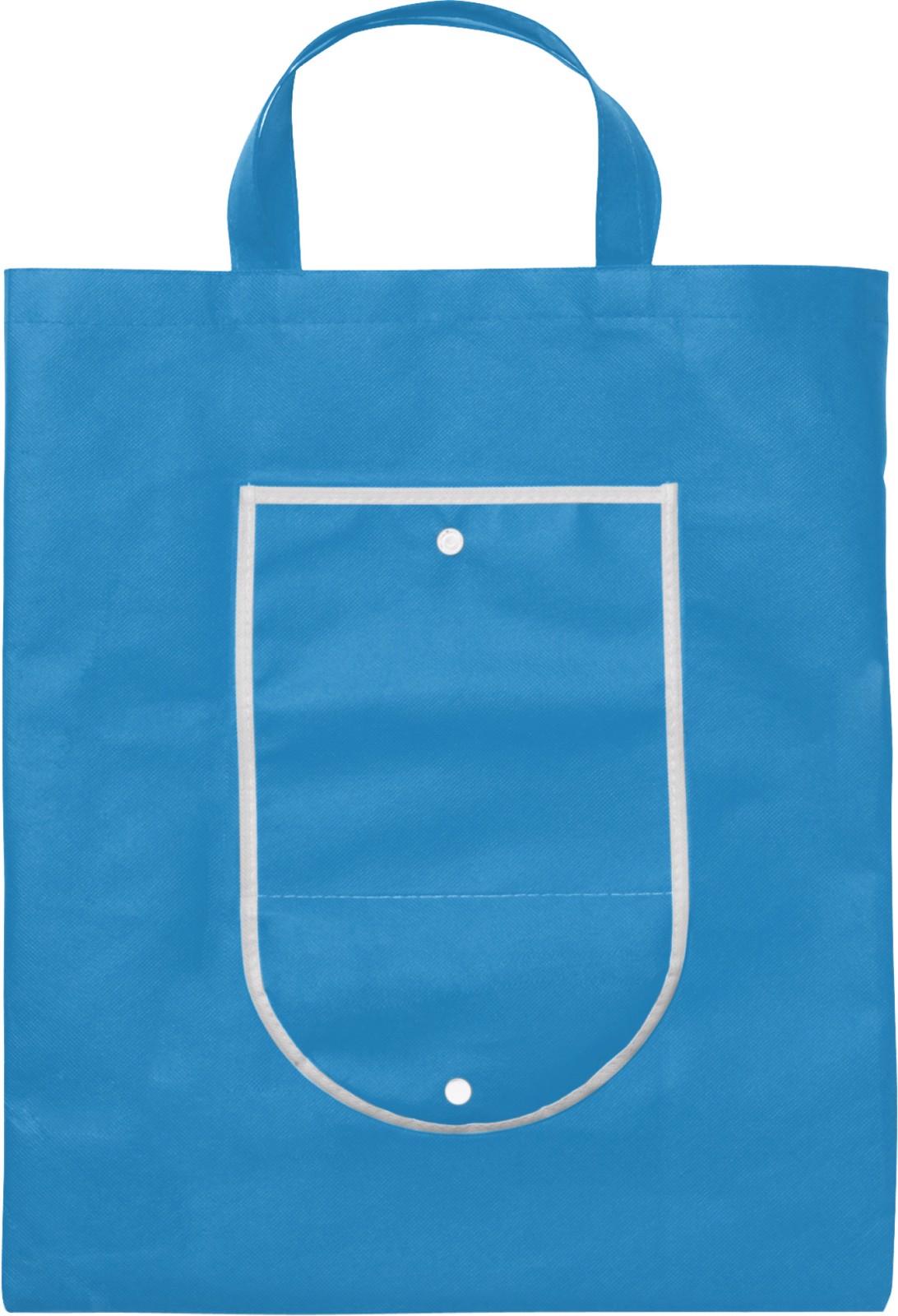 Nonwoven (80 g/m²) foldable shopping bag - Light Blue