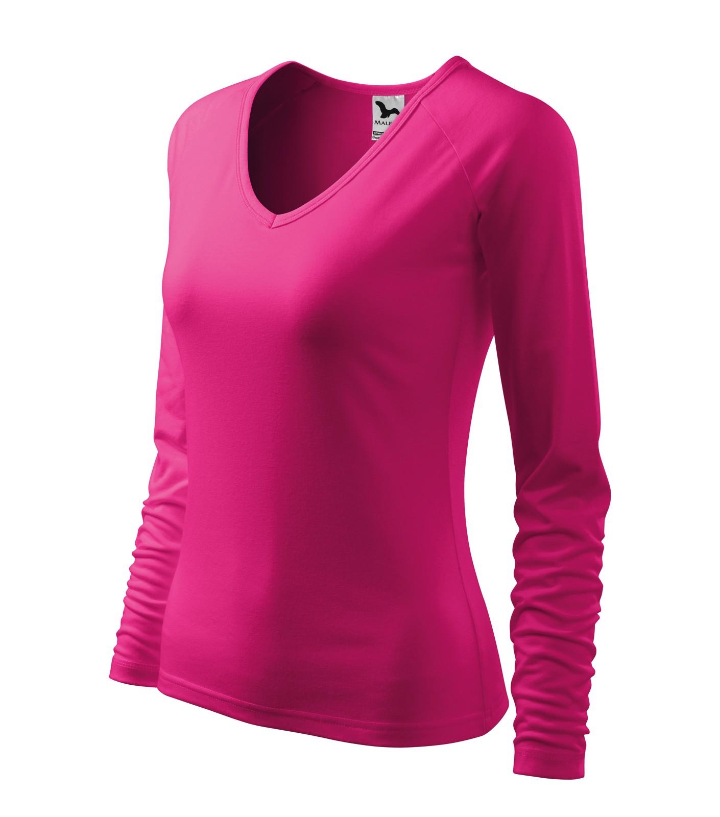 T-shirt women's Malfini Elegance - Raspberry Pink / 2XL