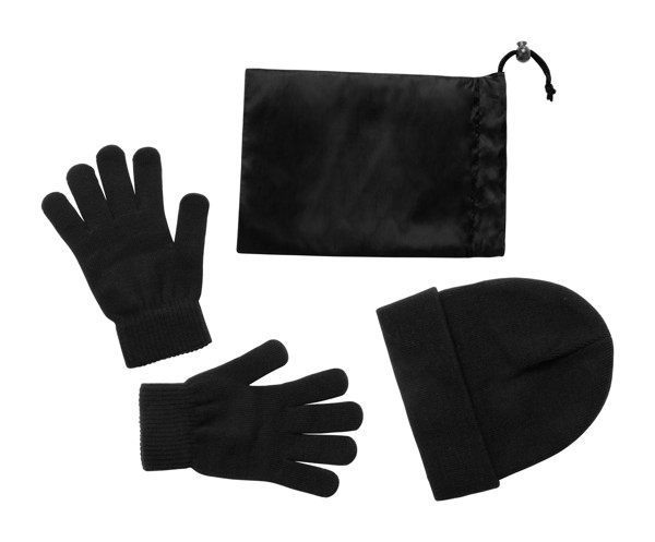 Cap And Gloves Set Duvel - Black