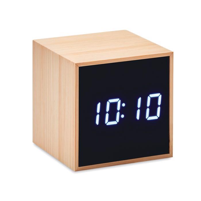 LED budilka z bambusovim ohišjem Mara Clock