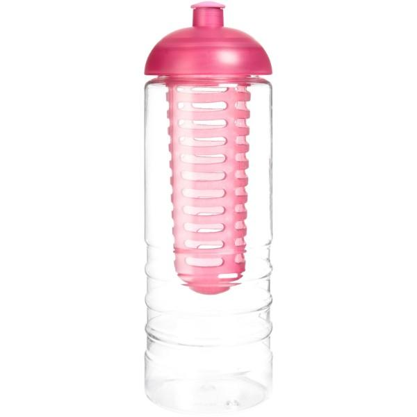 H2O Treble 750 ml lahev s infuzérem a kupolovitým víčkem - Průhledná / Růžová