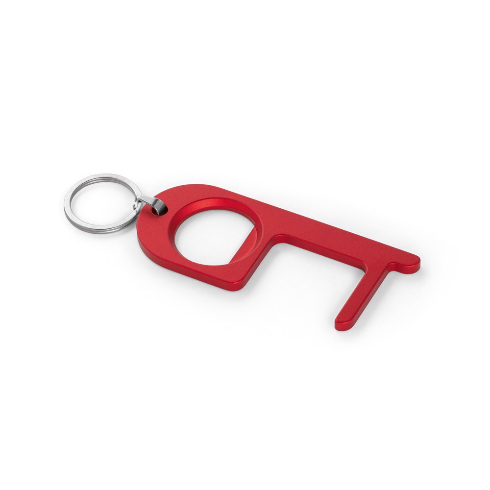 HANDY. Multifunction keyring - Red