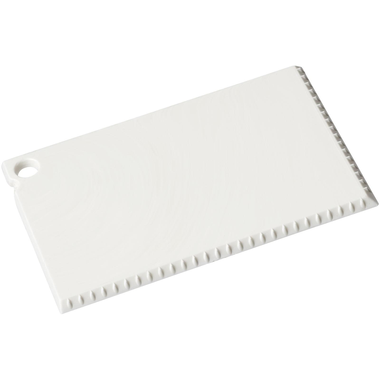 Coro credit card sized ice scraper - White