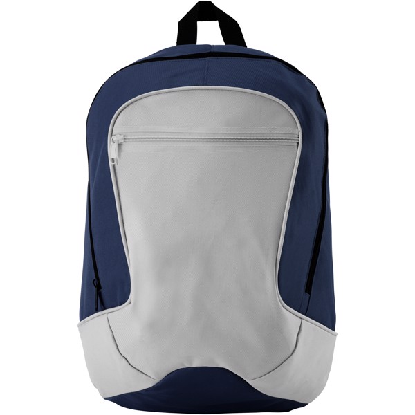 Laguna zippered front pocket backpack - Navy