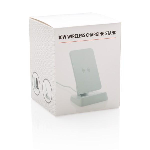 10W bezdrátově nabíjecí stojánek - Bílá
