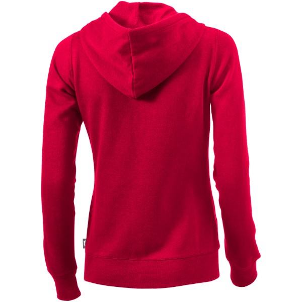 Open full zip hooded ladies sweater - Red / XXL