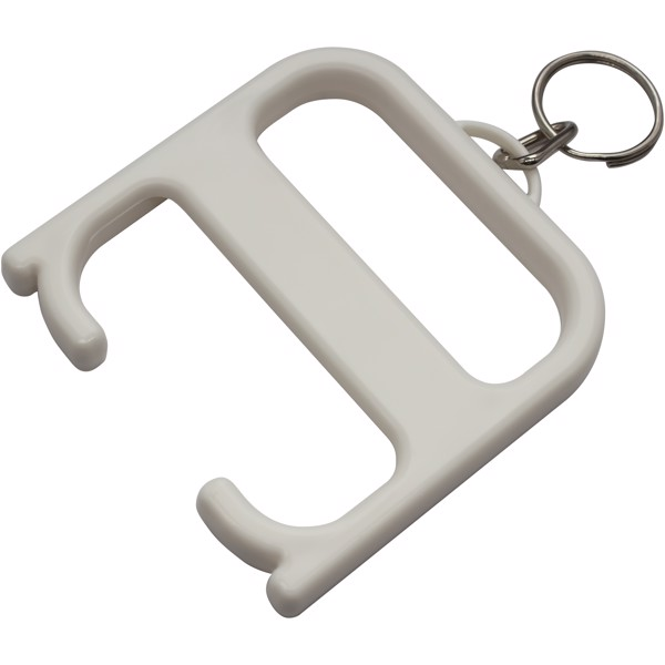 Hygiene handle with keychain - White