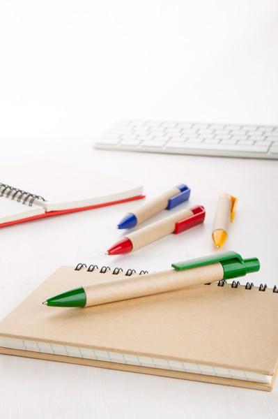 Kuličkové Pero Z Recyklovaného Papíru Reflat - Přírodní / Zelená