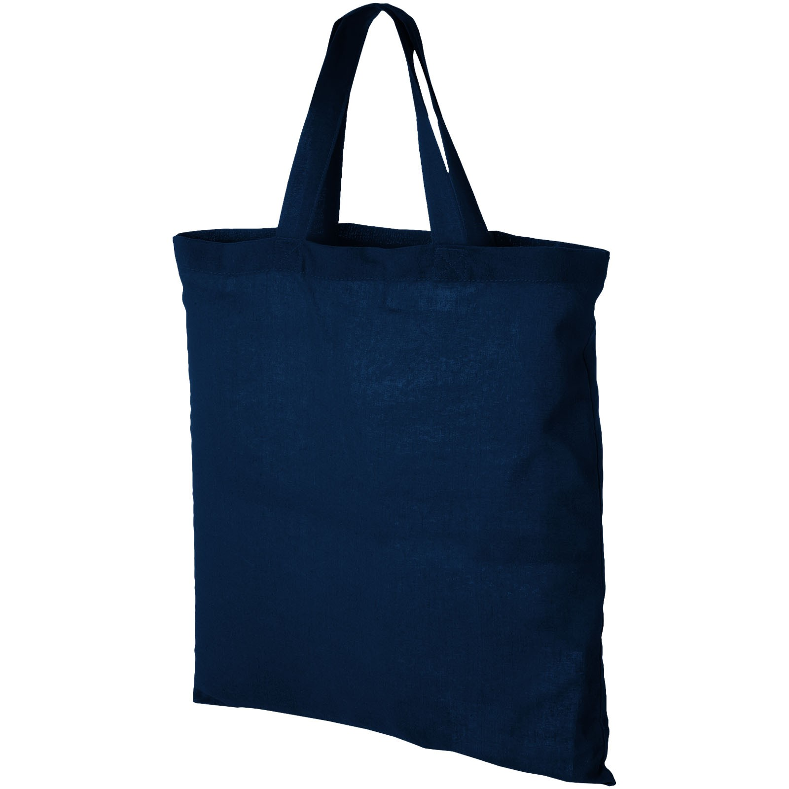 Virginia 100 g/m² cotton tote bag short handles - Navy