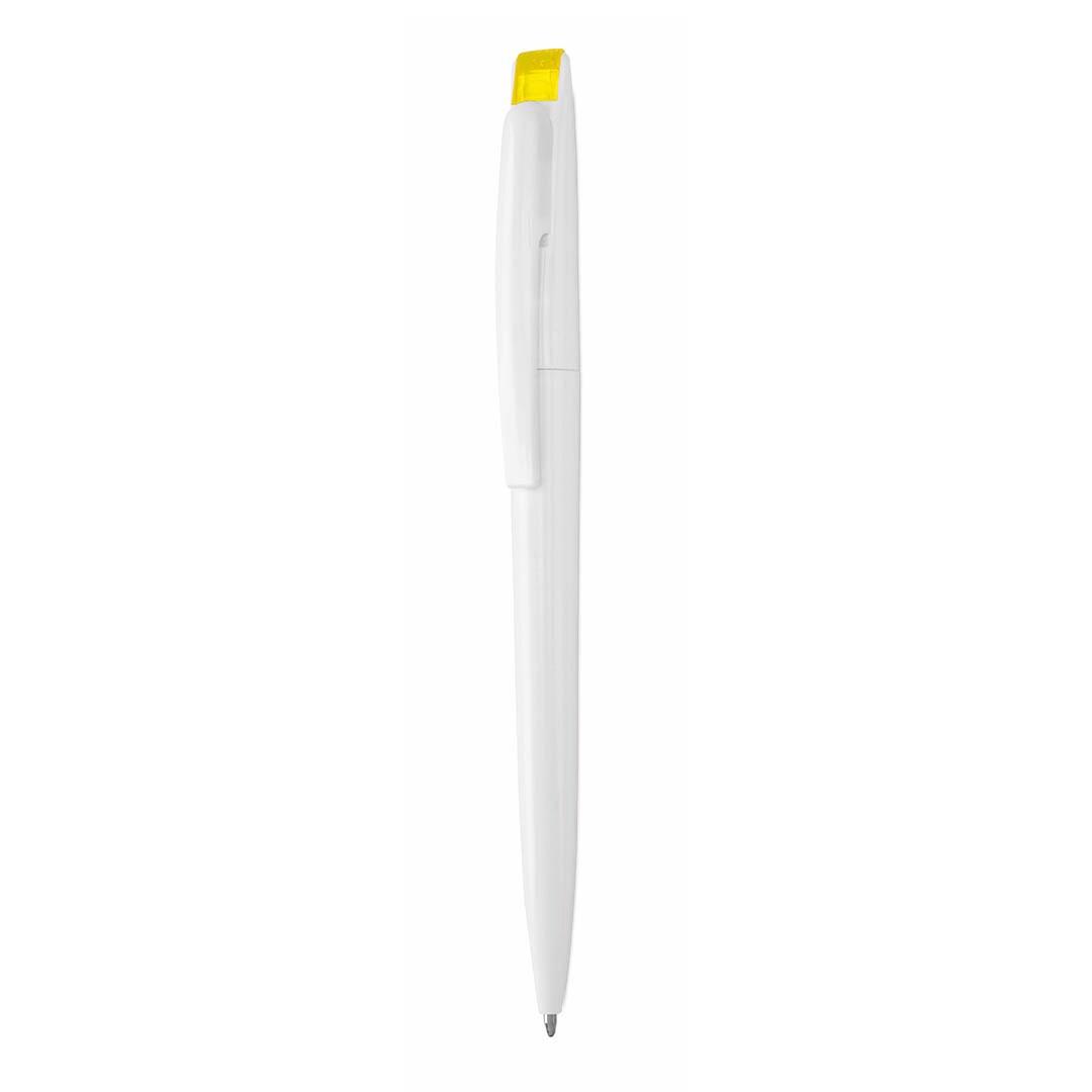 Esferográfica Bendon - Branco / Amarelo