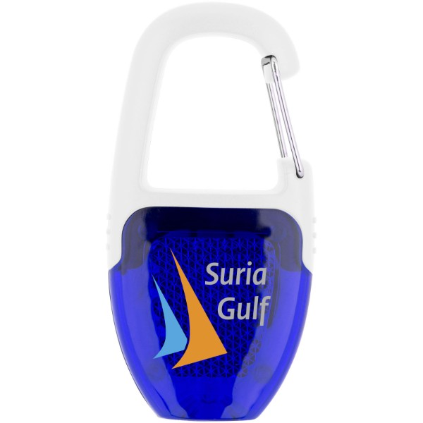 Reflect-or LED keychain light with carabiner - Royal blue / White