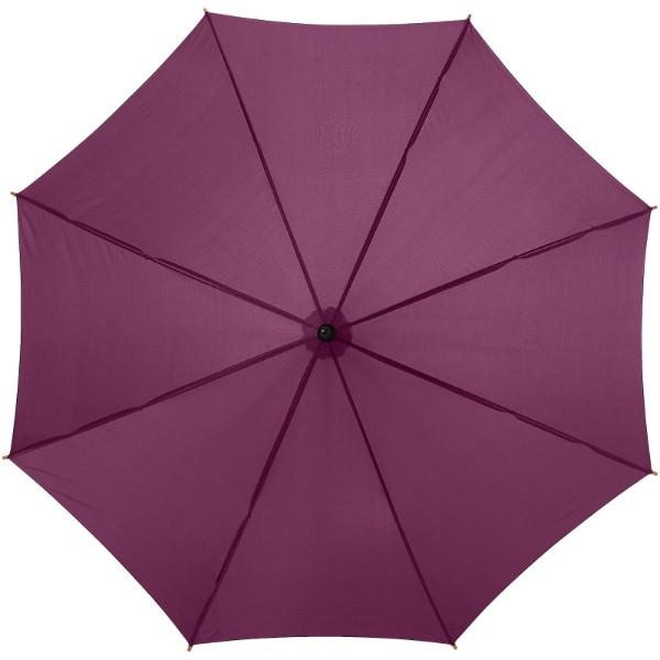 """23"""" deštník Kyle s automatickým otvíráním a dřevěnou tyčí a rukojetí - Burgundská červená"""