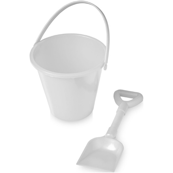 Finn beach bucket and spade - White