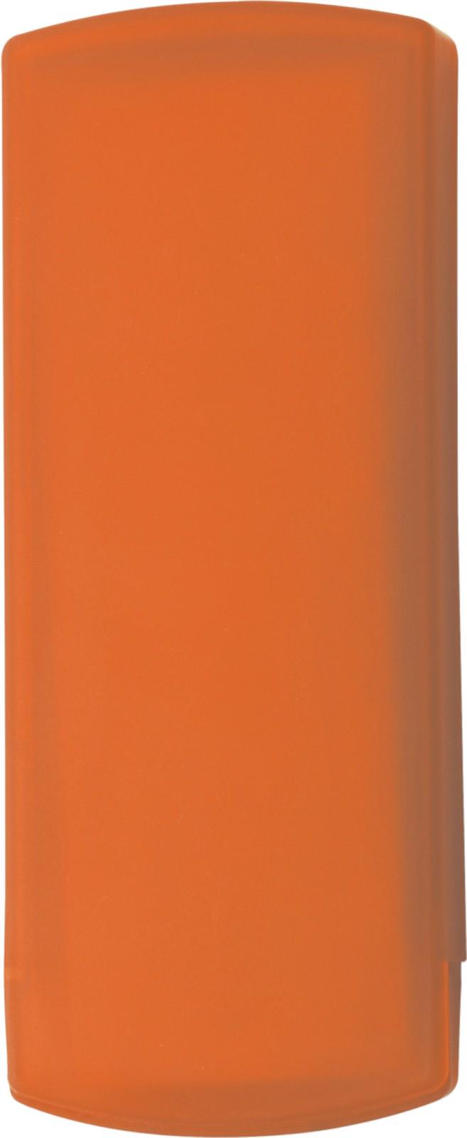Plastic case with plasters - Orange