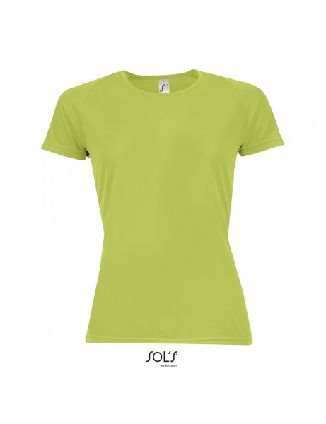 Sols Sporty Women's Raglan T-shirt  - Apple Green / XS