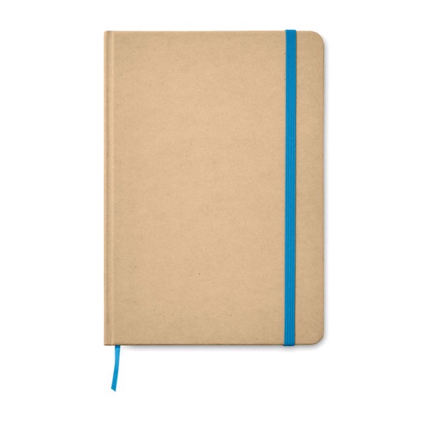 A5 Notebook recycled carton Everwrite - Blue