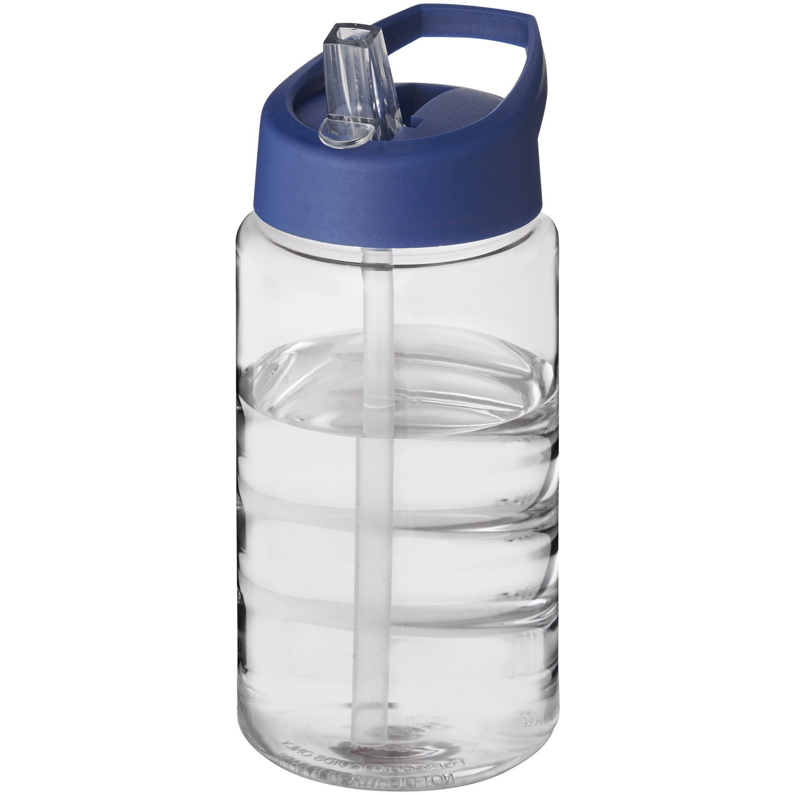 H2O Bop 500 ml spout lid sport bottle - Transparent / Blue