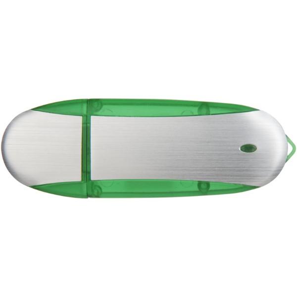 USB stick Oval - Apple green / Silver / 8GB