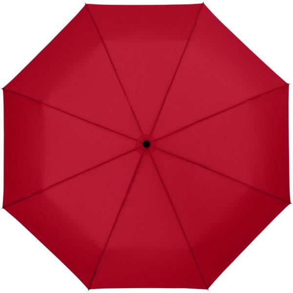 """Skládací deštník Wali 21"""" s automatickým otvíráním - Červená s efektem námrazy"""