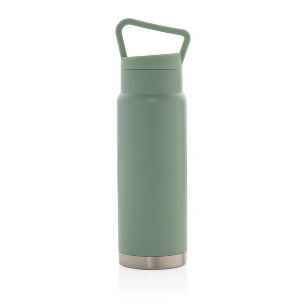 Leakproof vacuum on-the-go bottle with handle - Green