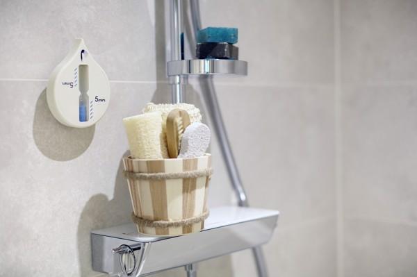 Plastic shower timer