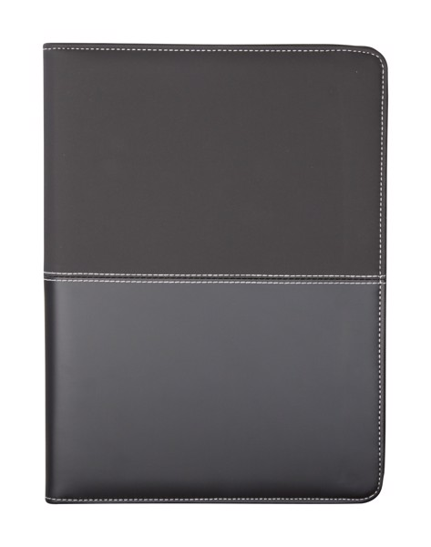 A4 Zipped Document Folder Duotone Zip - Black