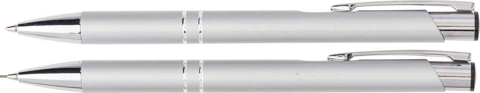 Aluminium writing set - Silver
