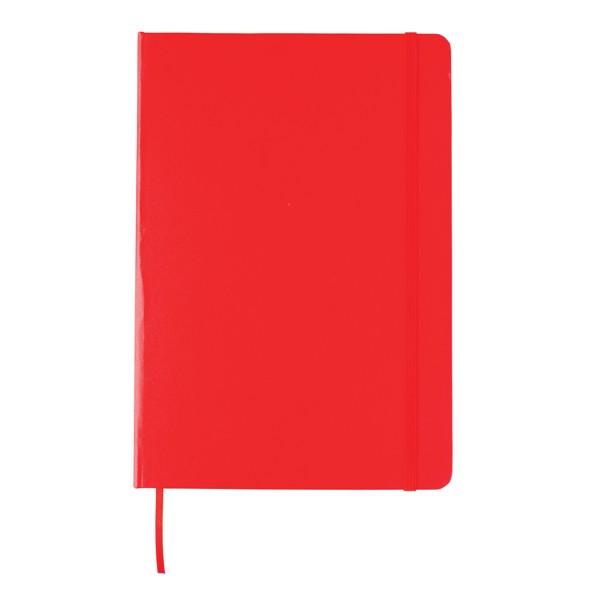 Základní poznámkový blok s tvrdou vazbou - Červená