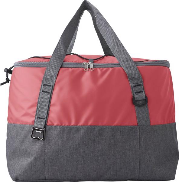 Polycanvas (600D) cooler bag - Red