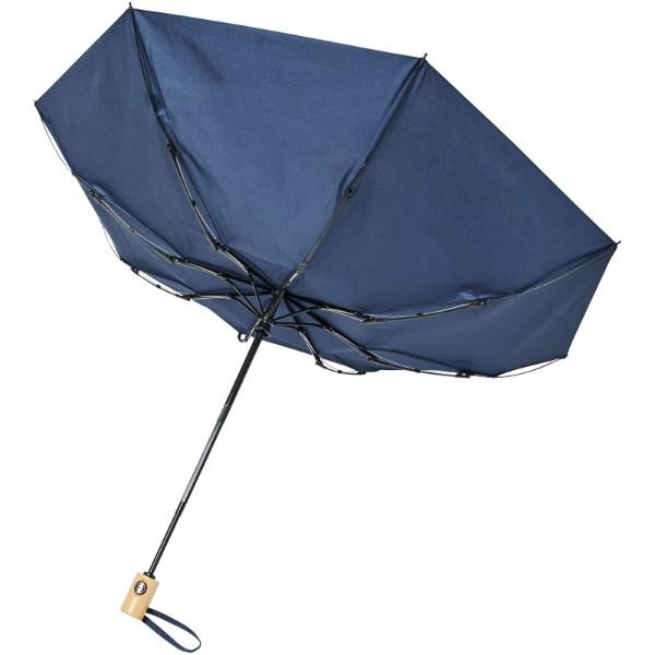 """Skládací deštník z recyklovaného PET s automatickým otevíráním/zavíráním Bo 21"""" - Navy"""