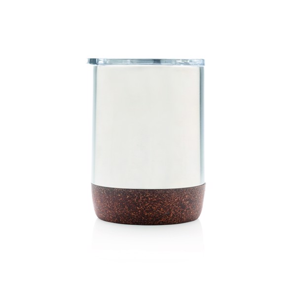 Cork small vacuum coffee mug - Silver