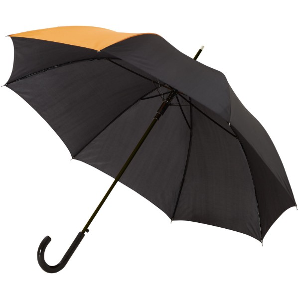 "Lucy 23"" auto open umbrella - Orange / Solid black"