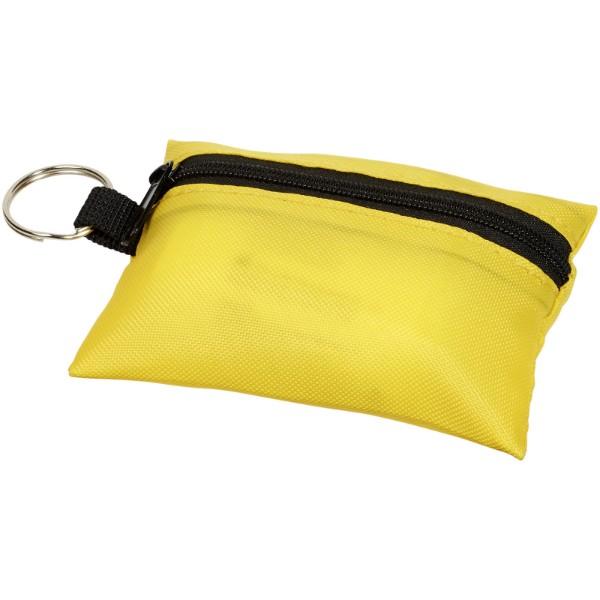 16dílný sáček první pomoci na klíčenku Valdemar - Žlutá