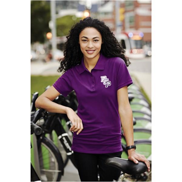 Calgary short sleeve women's polo - Plum / S