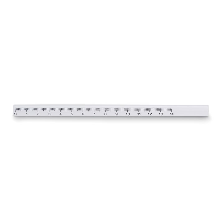 Carpenters pencil with ruler Maderos - White