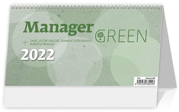 Týdenní kalendář Manager  na recyklovaném papíře 2022 - Green