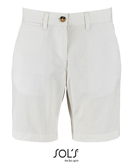 Women`S Chino Bermuda Shorts Jasper - White / 44