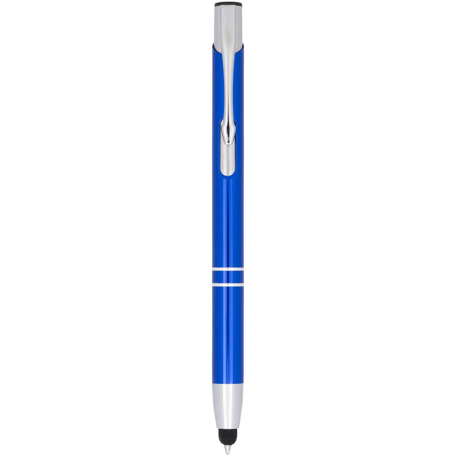 Kuličkové pero Moneta s kovovým úchopem - Světle modrá