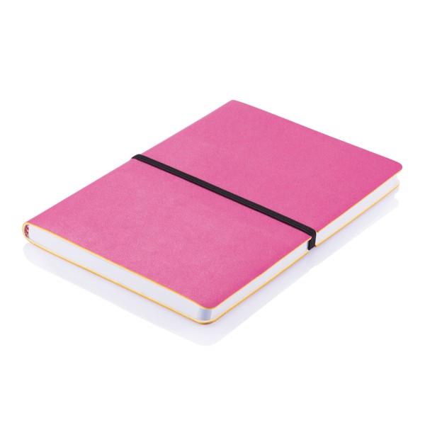 Poznámkový blok s měkkou vazbou - Růžová